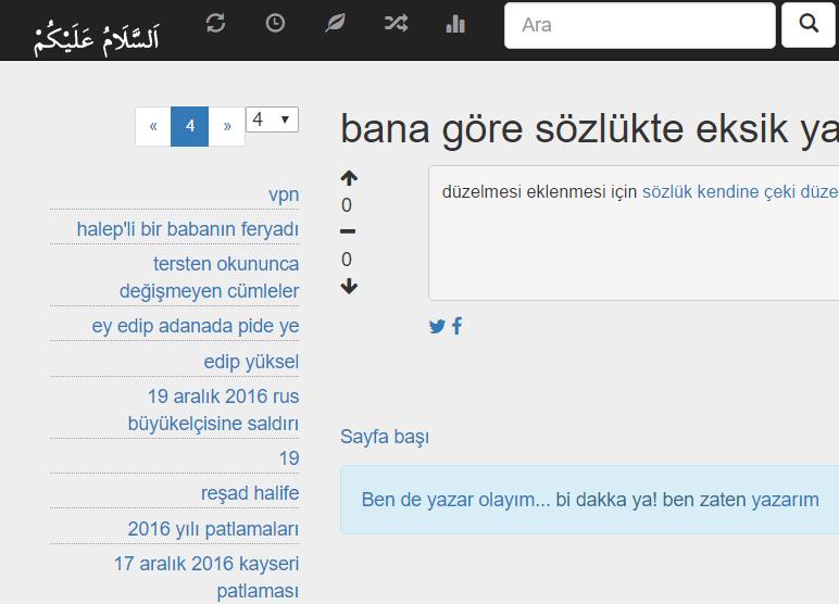 ASP.NET Sözlük Sayfam
